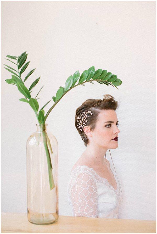 dramatic short bridal hairstyles