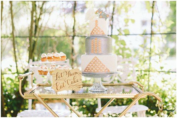 eat cake wedding bar cart