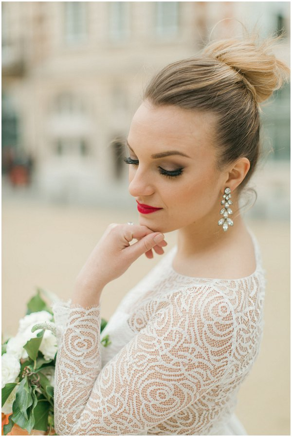fashion forward bridal style