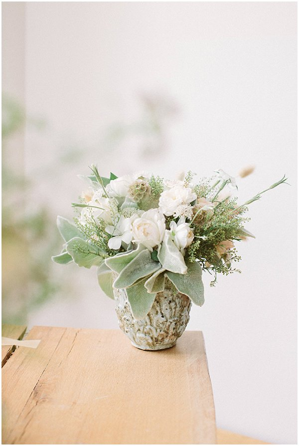 greens and whites wedding flowers