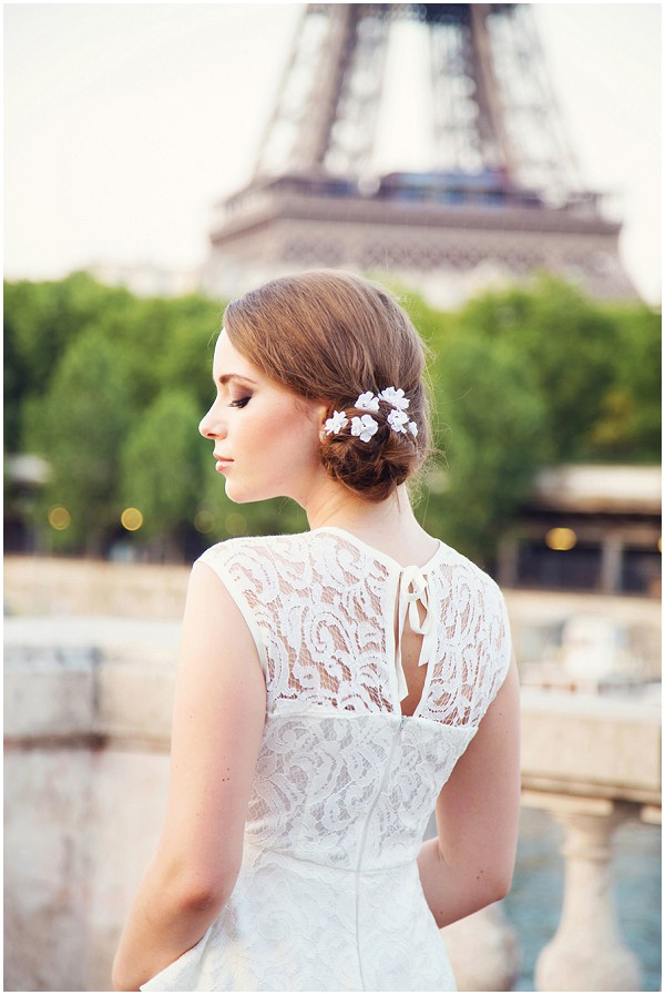lace back wedding dress Paris