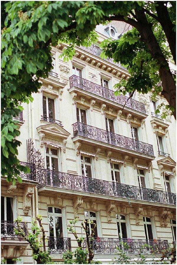 pretty building facades in Paris