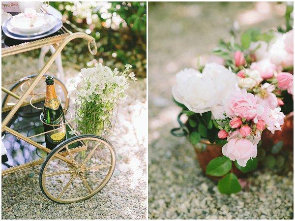 pretty wedding cart