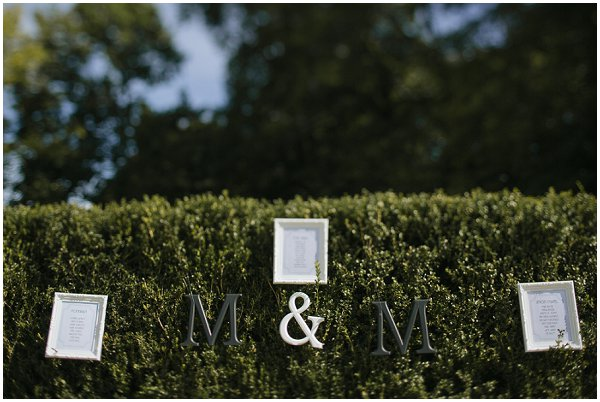 quirky wedding signage