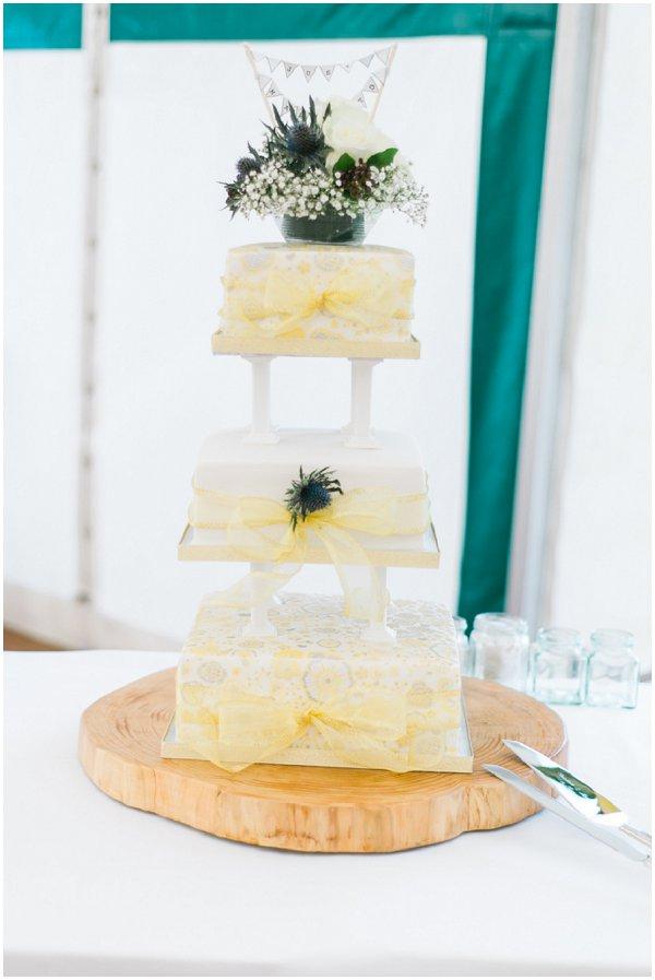 scottish themed wedding cake
