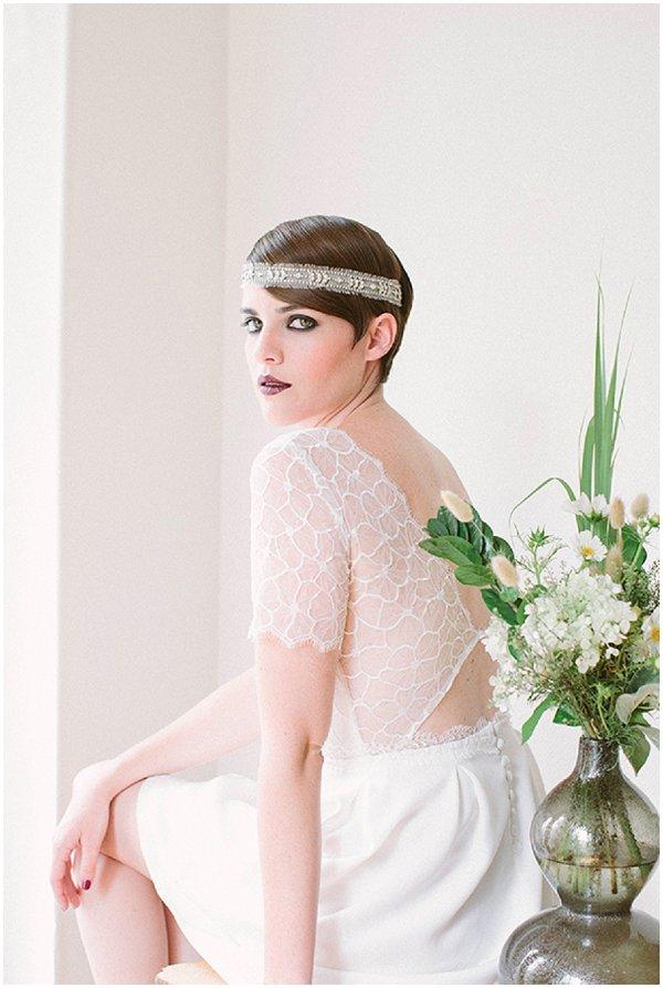 vintage crop bridal hair style