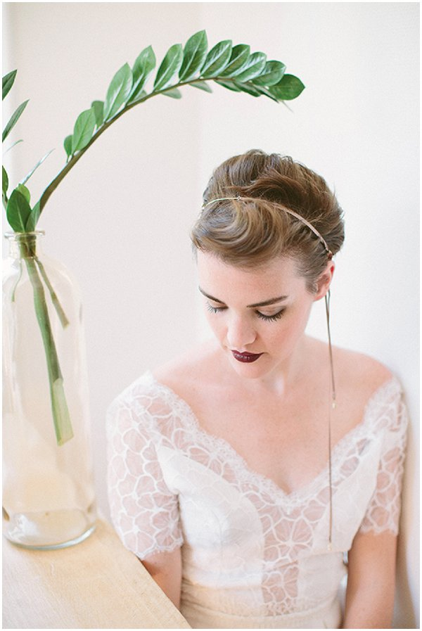 vintage inspired short bridal hairstyle