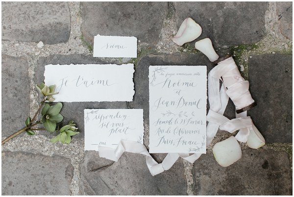 wedding calligraphy Paris