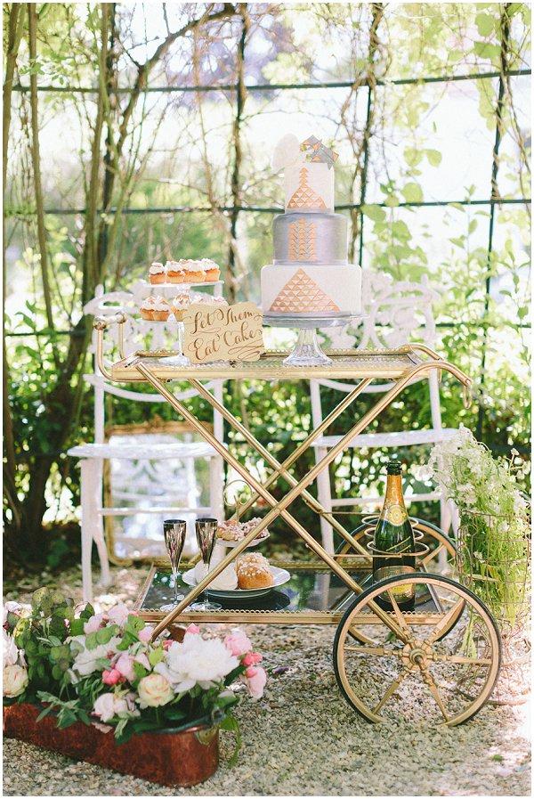 wedding dessert bar cart