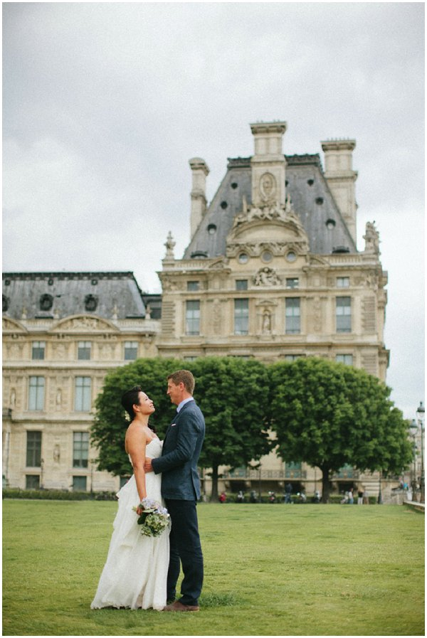 wedding in Louvre gardens