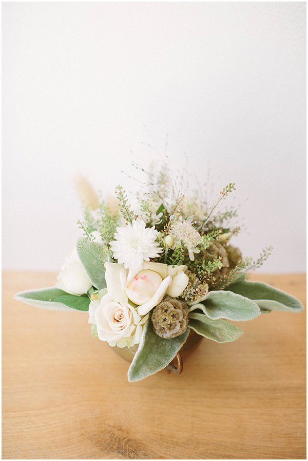 white and green floral arrangements