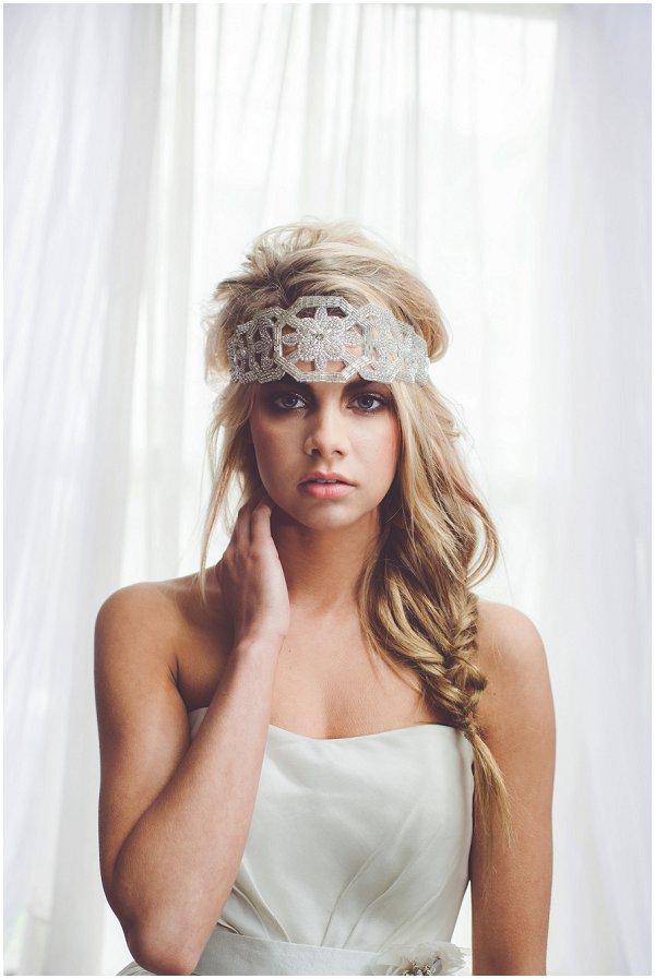 French inspired bridal headwear
