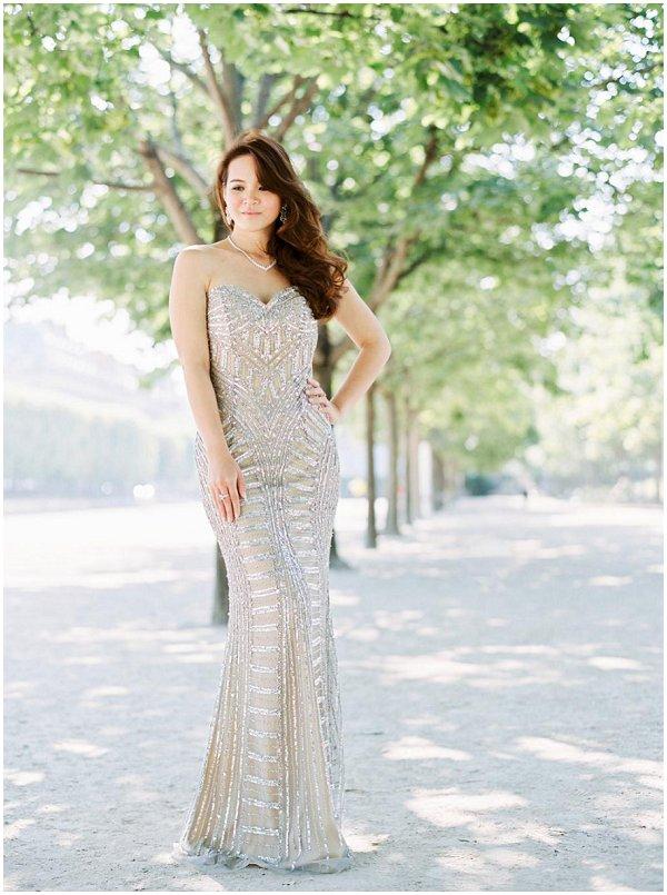 Jovani gold wedding dress