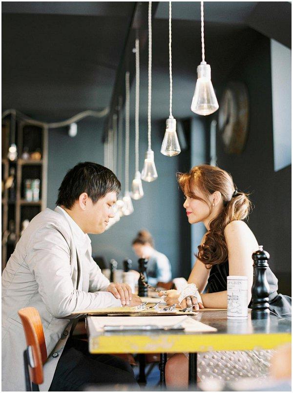 Paris coffee shop photo session