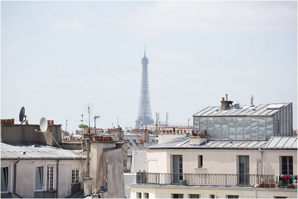 Paris rooftops and Eiffel Tower