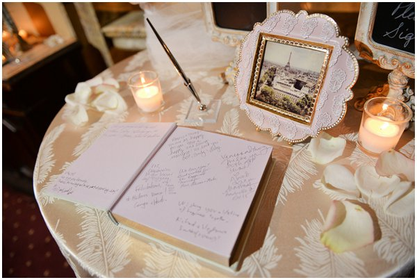 Paris style wedding decor