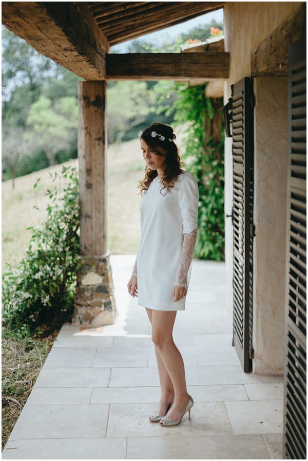 Rime Arodaky short wedding dress