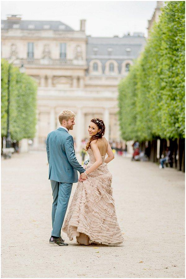 Watters bride in Paris