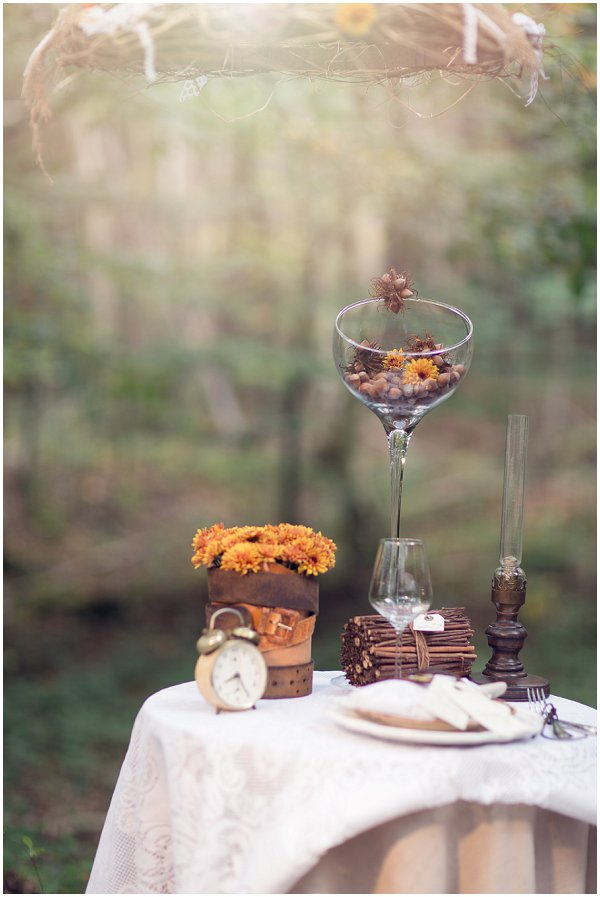 autumn wedding table decorations