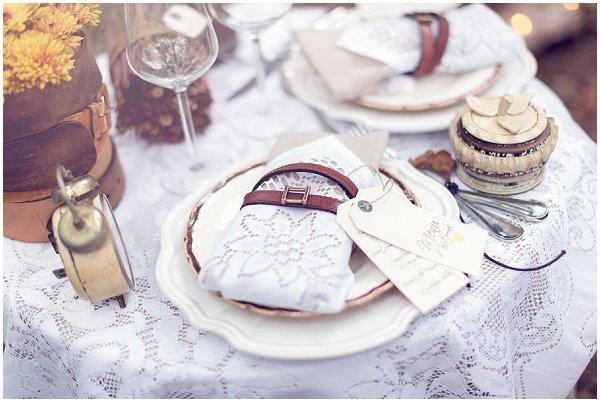 belt wedding napkin holders