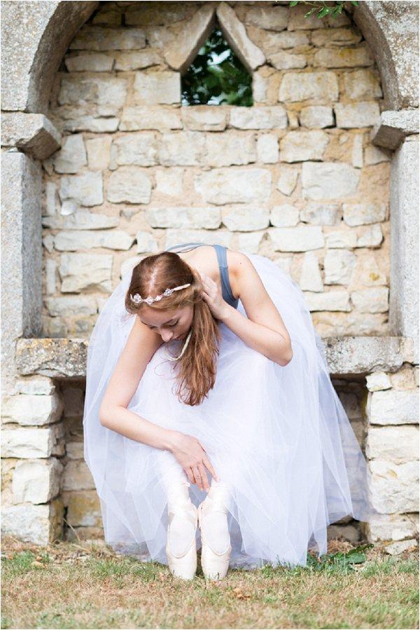 bridal editorial on ballets