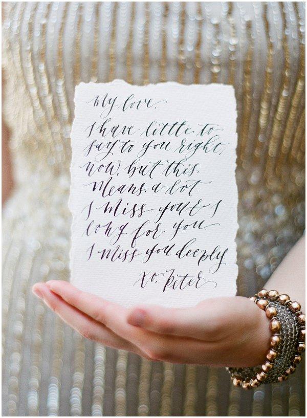 calligraphty love poem