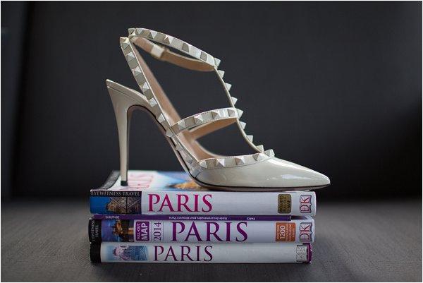 cream Valentino wedding shoes