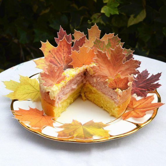 edible fall leaves cakes