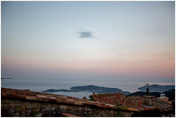 evening view of French Riviera
