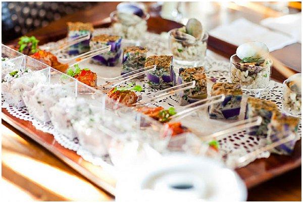 gourmet French wedding food