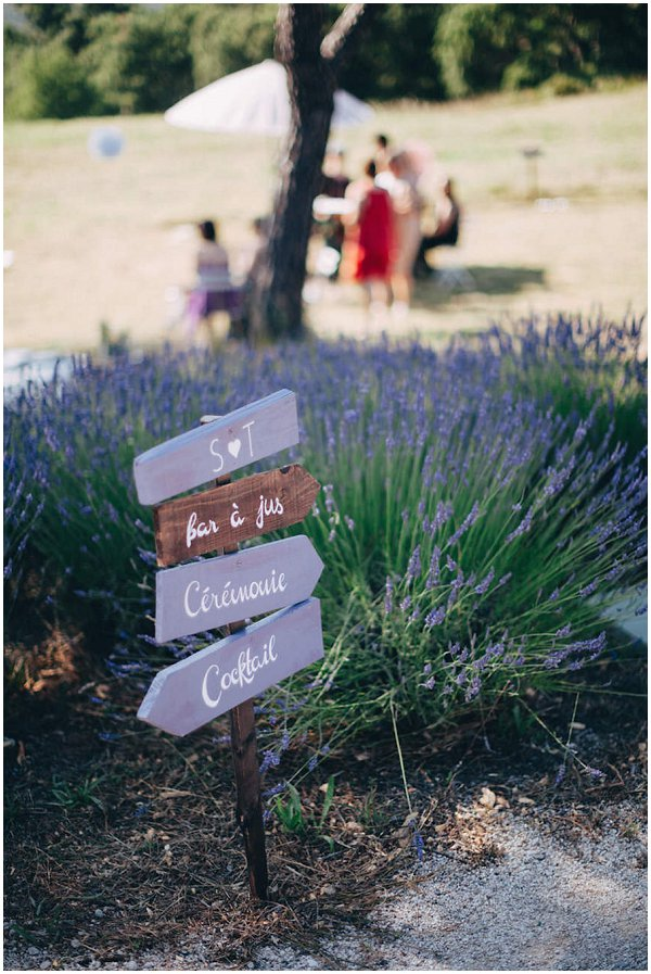 lavender rustic wedding signs