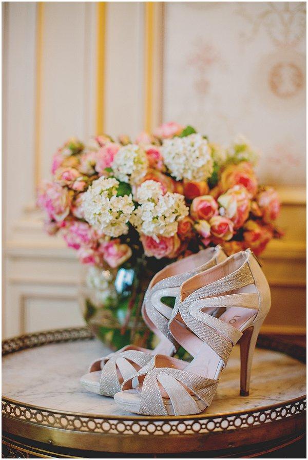 metalic sparkle wedding shoes
