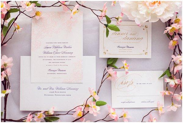 pastel wedding stationery ideas