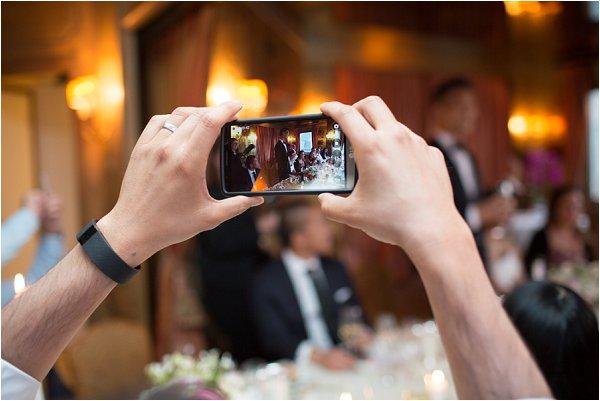 phones at weddings