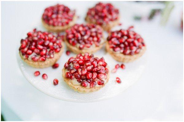 pomegranates tartes