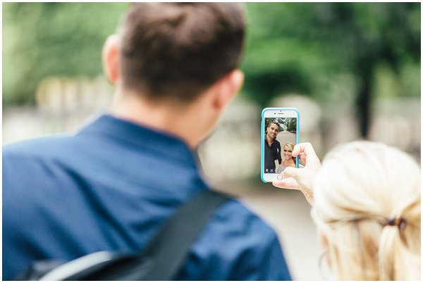 proposal selfie