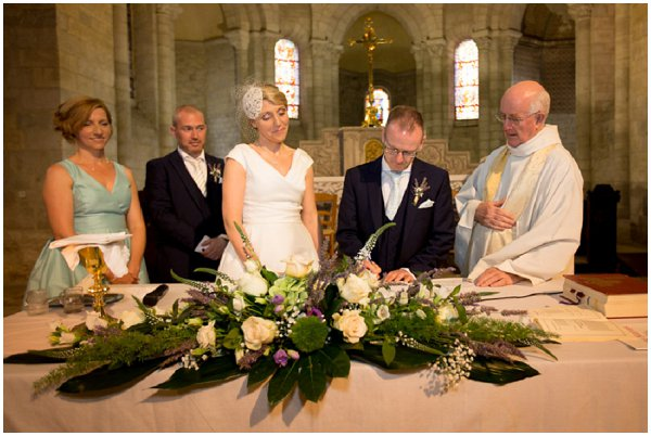 religious wedding ceremony france