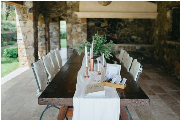 rustic simple wedding table