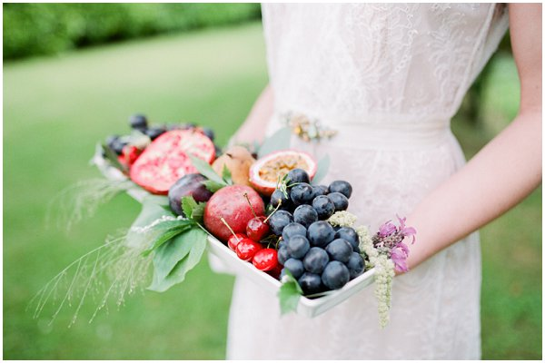 serve fruit at a wedding