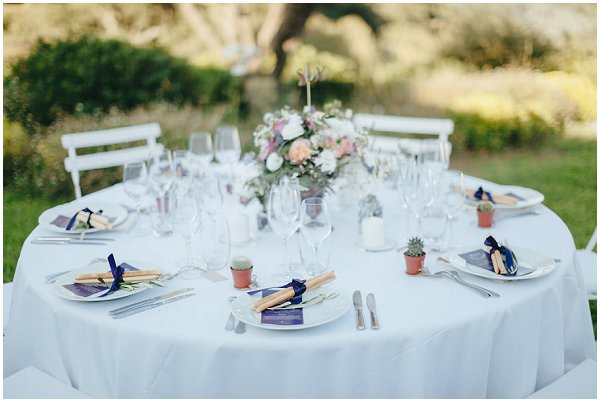 simple elegant wedding table