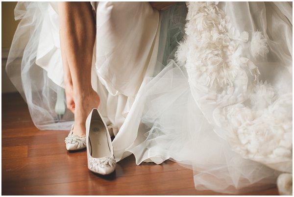 sore bridal feet
