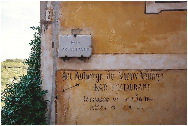 vintage road sign in Eze France
