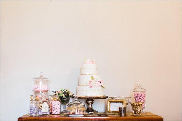 wedding dessert bar and cake