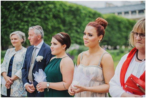 wedding guests in Paris