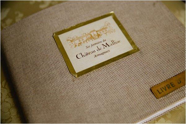 Chateau guest book
