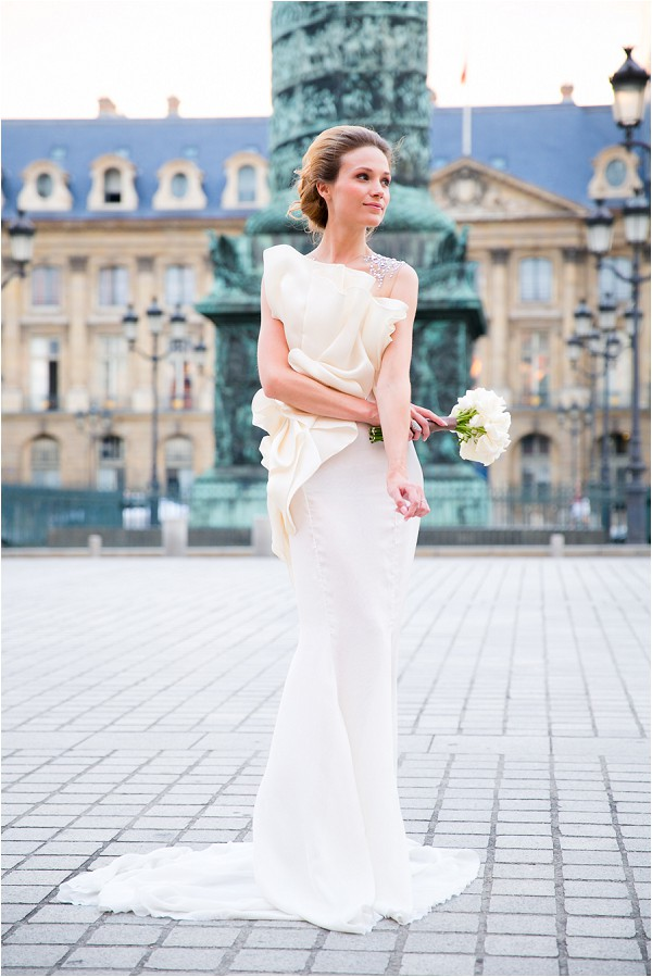 Couture wedding dress by Paolo Corona Paris