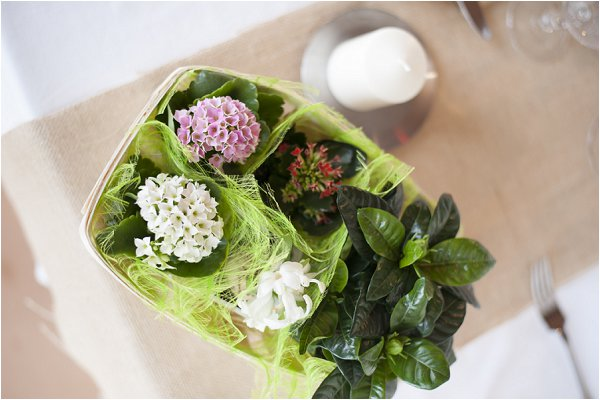 DIY wedding floral baskets