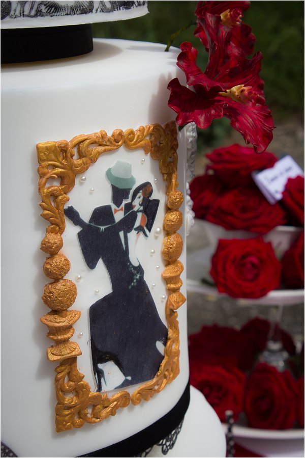 Dance inspired wedding cake