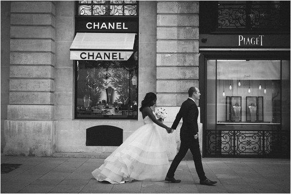 Designer wedding in Paris