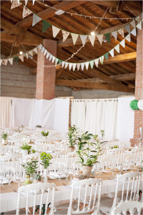 Franco-Irish wedding decor
